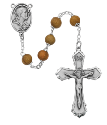 OLIVE WOOD ROSARY