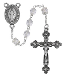 Clear Glass Rosary