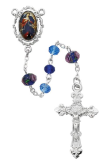 BLUE CRYSTAL O.L. UNDOER OF KNOTS ROSARY