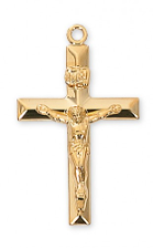 GOLD/STERLING SILVER CRUCIFIX WITH CHAIN