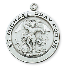 "S.S. St. Michael Medal, 24"" Chain"