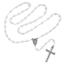 CRYSTAL & PEWTER ROSARY