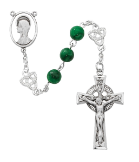 FAUX JADE CELTIC ROSARY