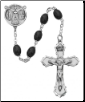 6X8MM BLACK WOOD ROSARY