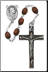 OVAL BROWN WOOD ROSARY