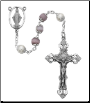 Violet Cat's Eye Rosary Boxed
