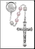 Mother and Child Pink and White Rosary