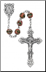 PINK CLOISONNE STYLE ROSARY