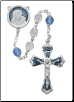 Mother and Child Blue and Crystal Rosary