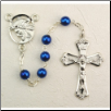 BLUE METALLIC & RHODIUM ROSARY