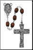 BROWN WOOD TRINITY ROSARY