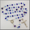 DARK & LIGHT BLUE ROSARY