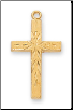 "Gold/Sterling Silver Cross, 18"" Chain"