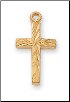 "Gold/Sterling Silver Cross, 16"" Chain"