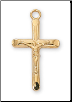 "Gold/Sterling Silver Crucifix, 18"" Chain"