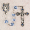 Dark Blue Glass Rosary
